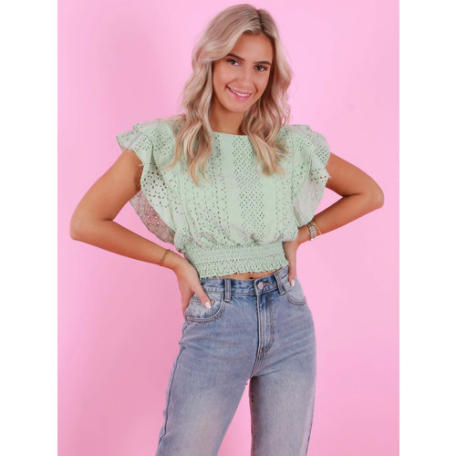 AMBIKA Broderie Top Mint