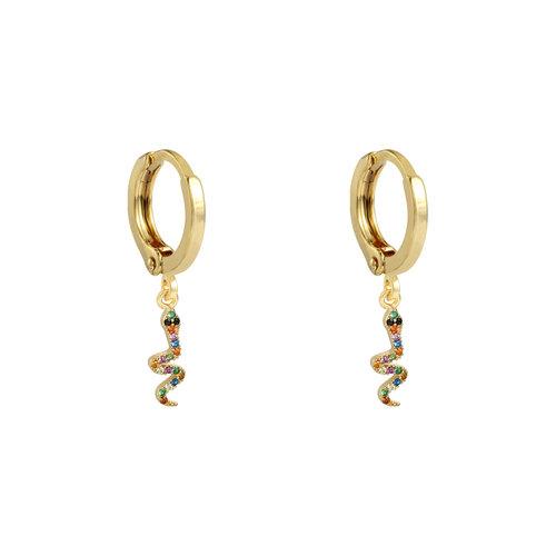 LADYLIKE Earrings Glamorous Snake Gold/Multi
