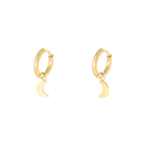 LADYLIKE Earrings Moon Gold