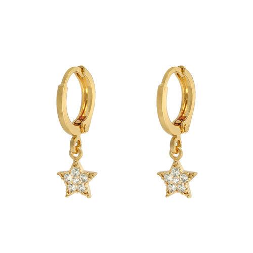 LADYLIKE Earrings Sparkle Star Gold/Silver