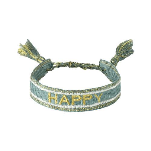 LADYLIKE Armband Woven Happy Blauw