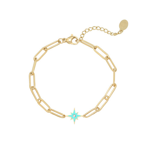 LADYLIKE Armband Shining Star Goud/Blauw