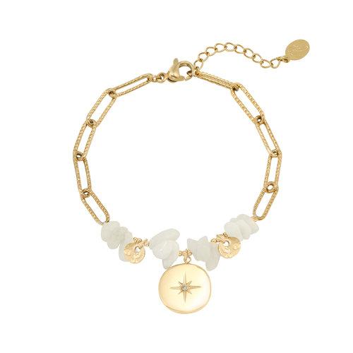LADYLIKE Armband Celeste Goud/Wit