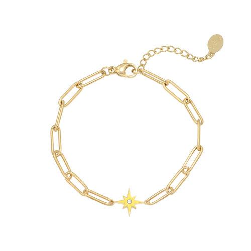 LADYLIKE Armband Shining Star Goud/Geel