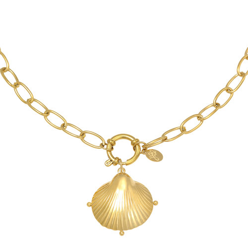 LADYLIKE Necklace Clam Shell Gold