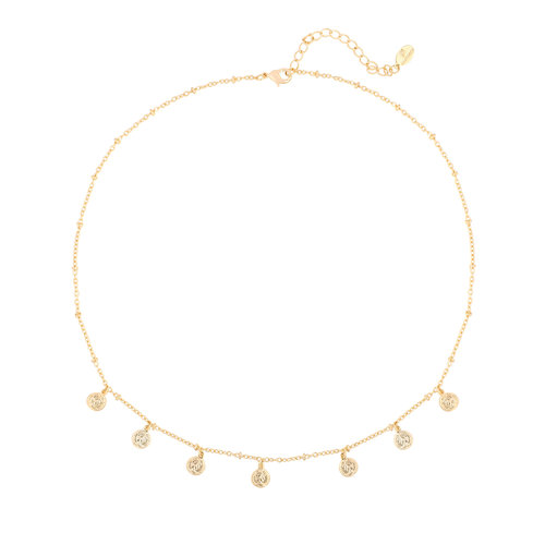LADYLIKE Necklace Cute Coin Gold