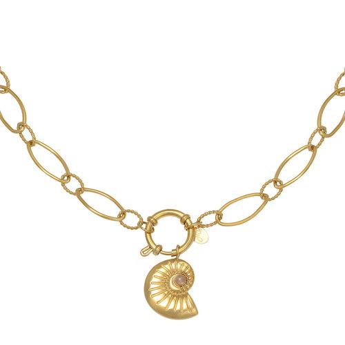LADYLIKE Necklace Shell Around Gold