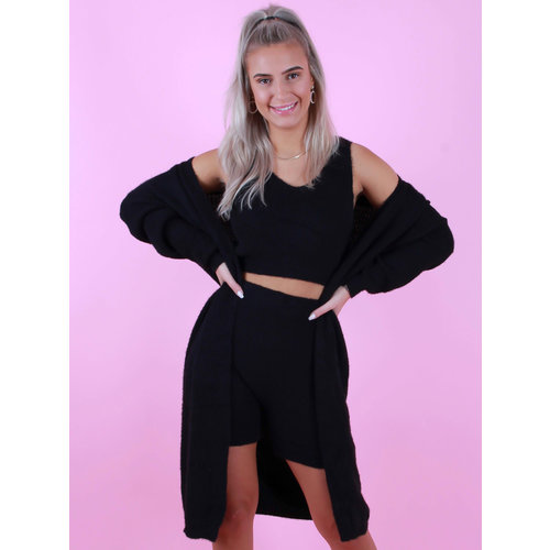 GIORGIA Comfy Suit 3 Piece Black