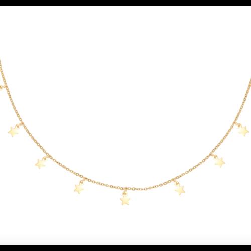 LADYLIKE Necklace Floating Stars Gold