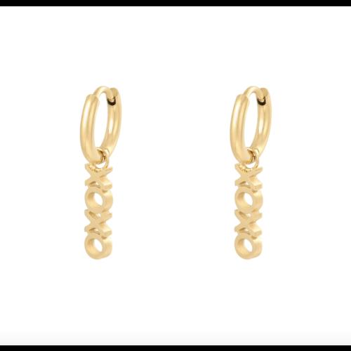 LADYLIKE Earrings XOXO Gold