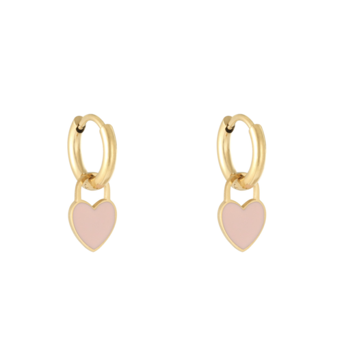 LADYLIKE Earrings Pastel Heart Gold/Pink