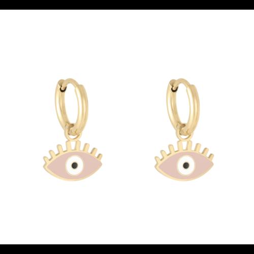 LADYLIKE Earrings Pastel Eyes Gold/Pink