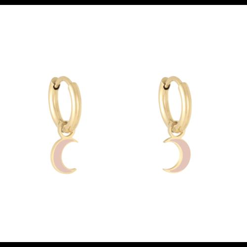 LADYLIKE Earrings Pastel Moon Gold/Pink