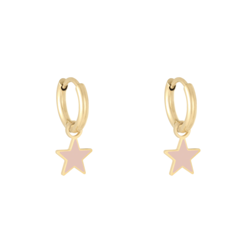 LADYLIKE Earrings Pastel Star Gold/Pink
