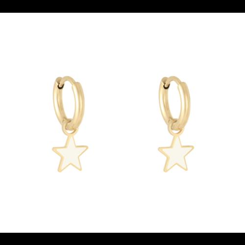 LADYLIKE Earrings Pastel Star Gold/White