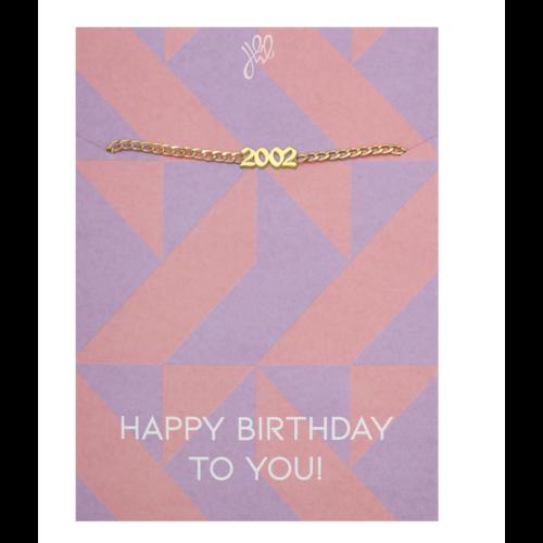 LADYLIKE Bracelet Happy Year Of Birth Gold - 2002