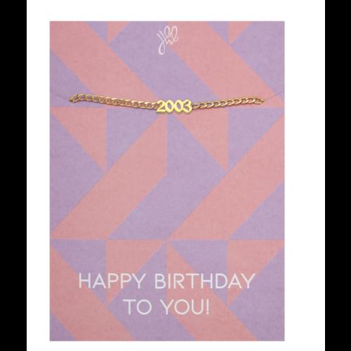 LADYLIKE Bracelet Happy Year Of Birth Gold - 2003