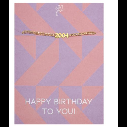 LADYLIKE Bracelet Happy Year Of Birth Gold - 2004