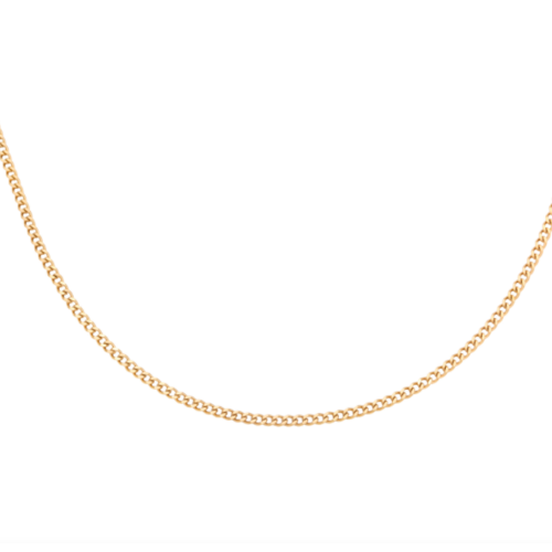 LADYLIKE Necklace Tiny Plain Chains Gold