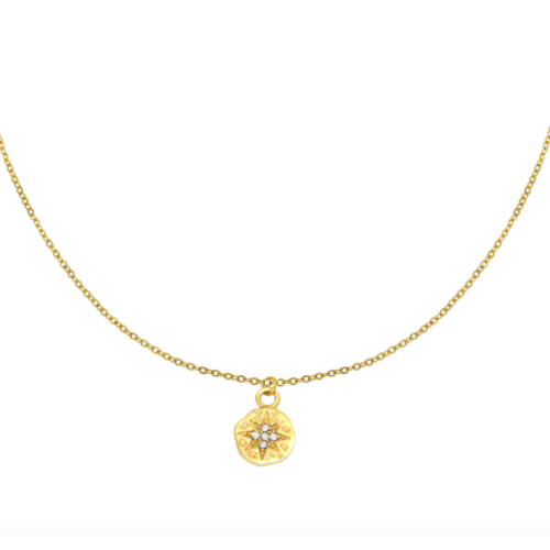 LADYLIKE Necklace Hammered Star Gold