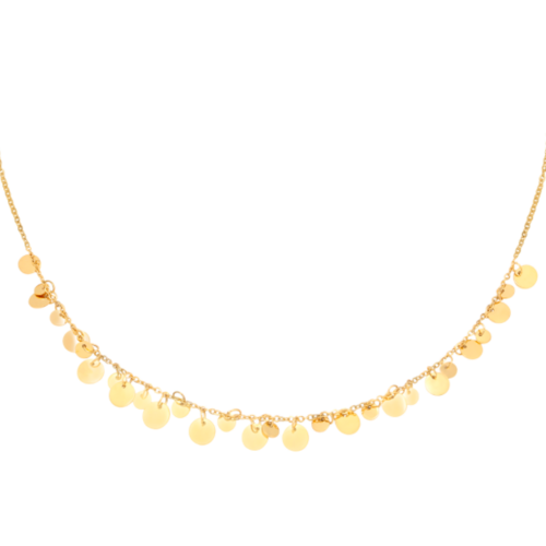 LADYLIKE Necklace Floating Circles Gold
