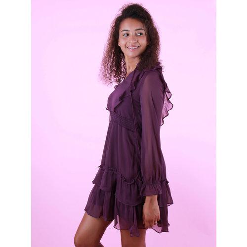 BY CLARA Long Sleeve Dress Purple