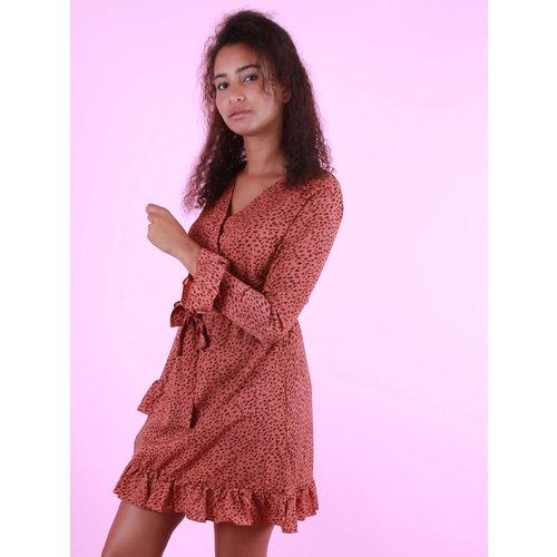 BY CLARA Long Sleeve Dress Rust