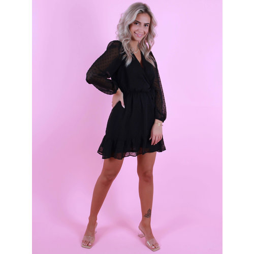 IVIVI Dot Dress Sleeves Black
