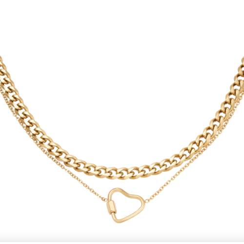 LADYLIKE Necklace Chained Heart Gold