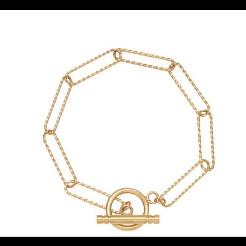 LADYLIKE Bracelet Airy Squares Gold