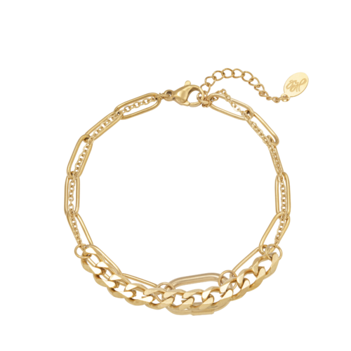 Ladylike Bracelet Chains Two In One Gold
