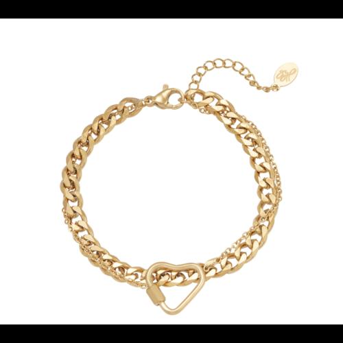 LADYLIKE Bracelet Chained Heart Gold
