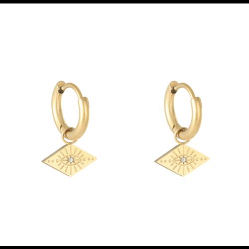 LADYLIKE Earrings Evil Eye Gold