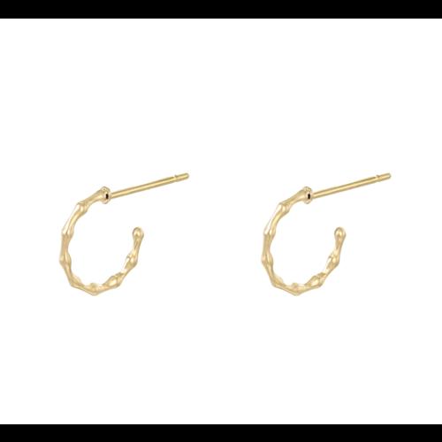 LADYLIKE Earrings Bamboo Hoops Gold
