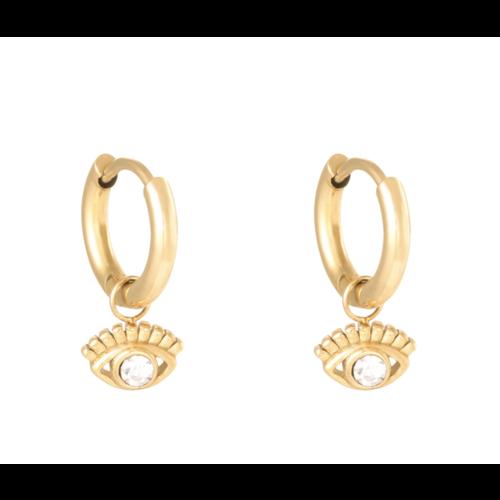 LADYLIKE Earrings Sparkling Eye Gold