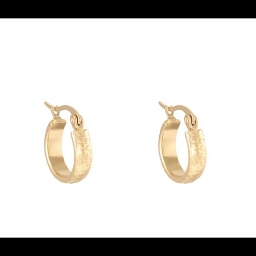 LADYLIKE Earrings Creole Jungle Gold
