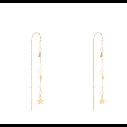 LADYLIKE Earrings Drop Down Stars Gold