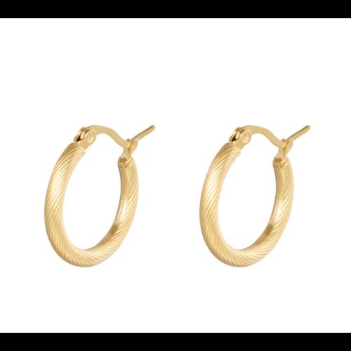 LADYLIKE Earrings Hoops Twisted 22 mm Gold