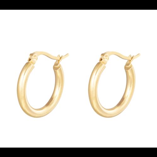 LADYLIKE Earrings Hoops Smooth 22 mm Gold