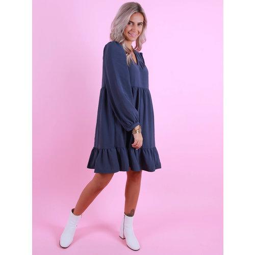 AN'GE Elanor Dress Blue