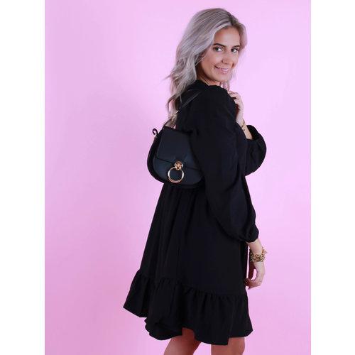 TEATRO Gianna - Leather Bag - Classic Grain - Crossbody bags - Black