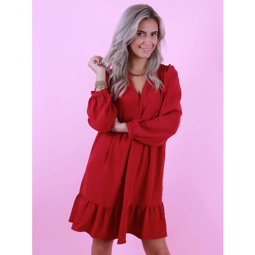 AN'GE Elanor Dress Bordeaux