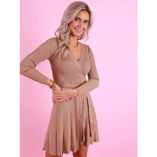 BY CLARA Knitted Dress Camel