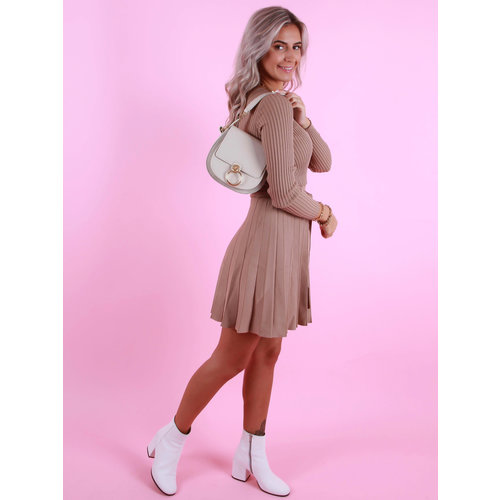 TEATRO Leather  Gianna - Classic Grain - Crossbody bags - Beige