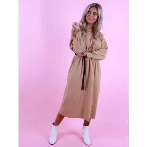 CIMINY Long Taille Dress Camel