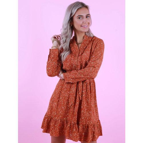 BY CLARA Confetti Dress Rust