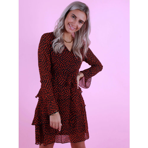 BY CLARA Dress With Dots Black/Red