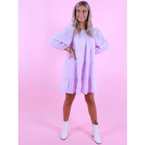 ELENZA Long Sleeve Dress Lilac