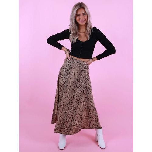 AMBIKA Soft Snake Skirt Liya Beige