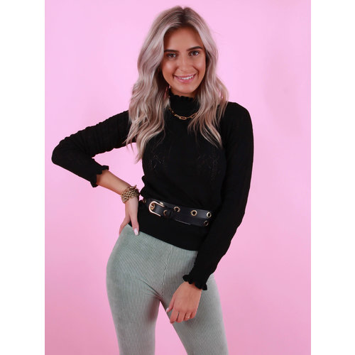 MAY Knitted Jumper Black